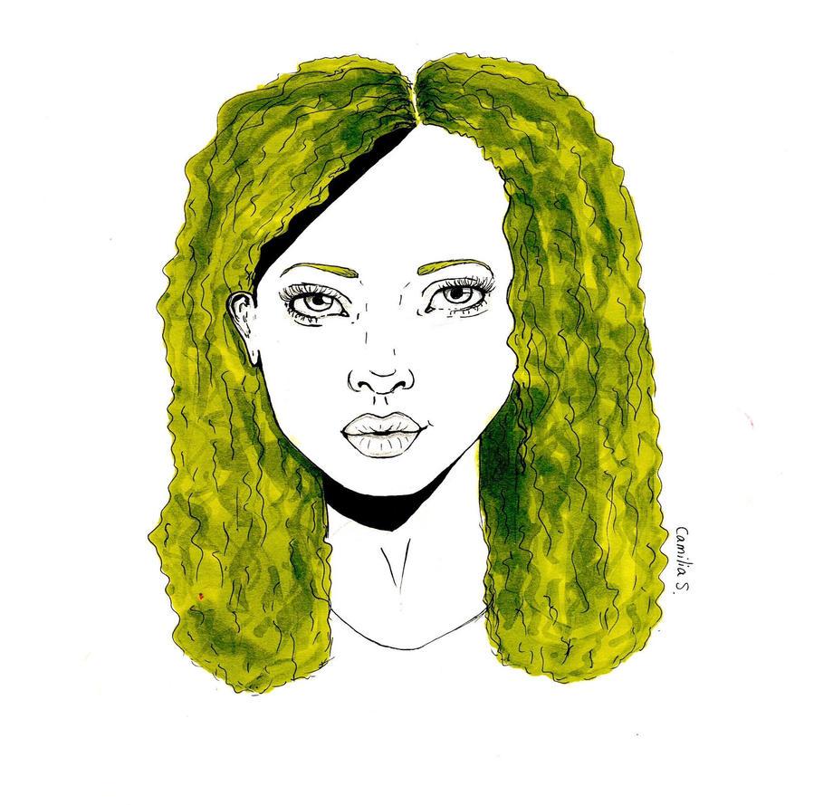 Girl with kaki hair by suddenlyvenusisme