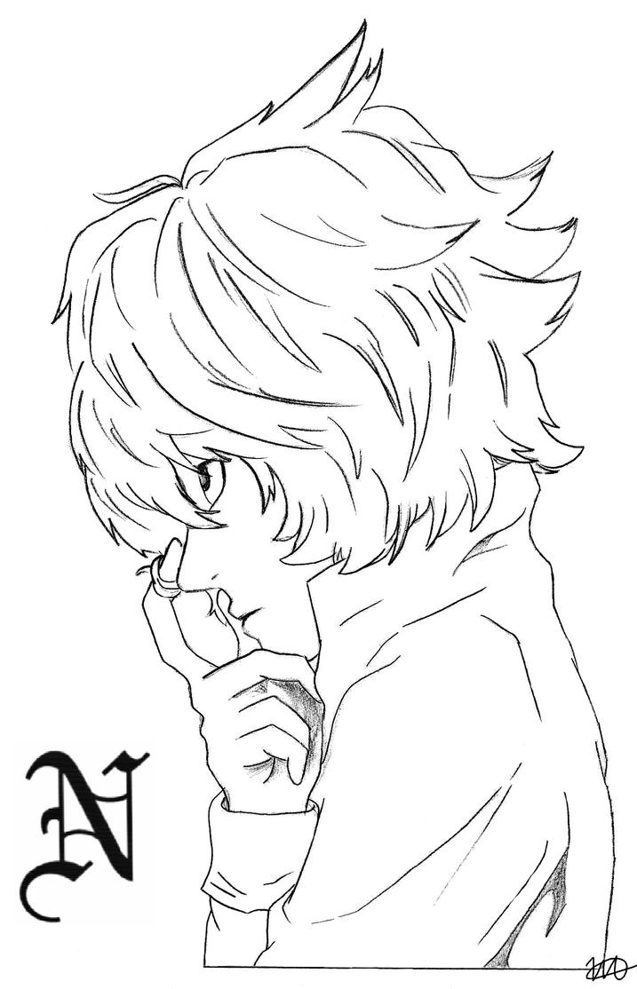 Near Death Note Drawings Sketch Coloring Page