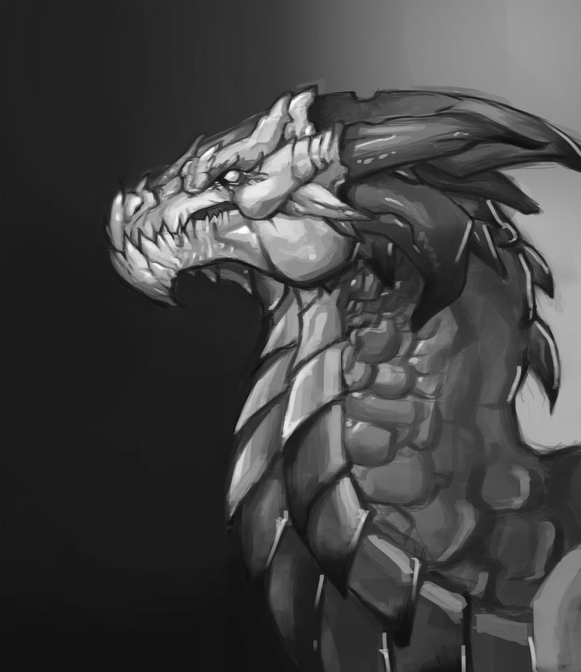 DragonHeadPainting by AnsAmanat