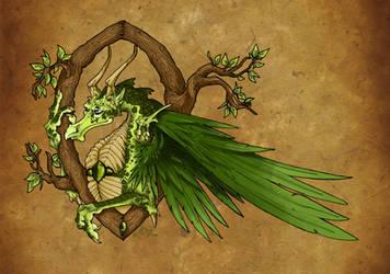 Wood Dragon by Mythka