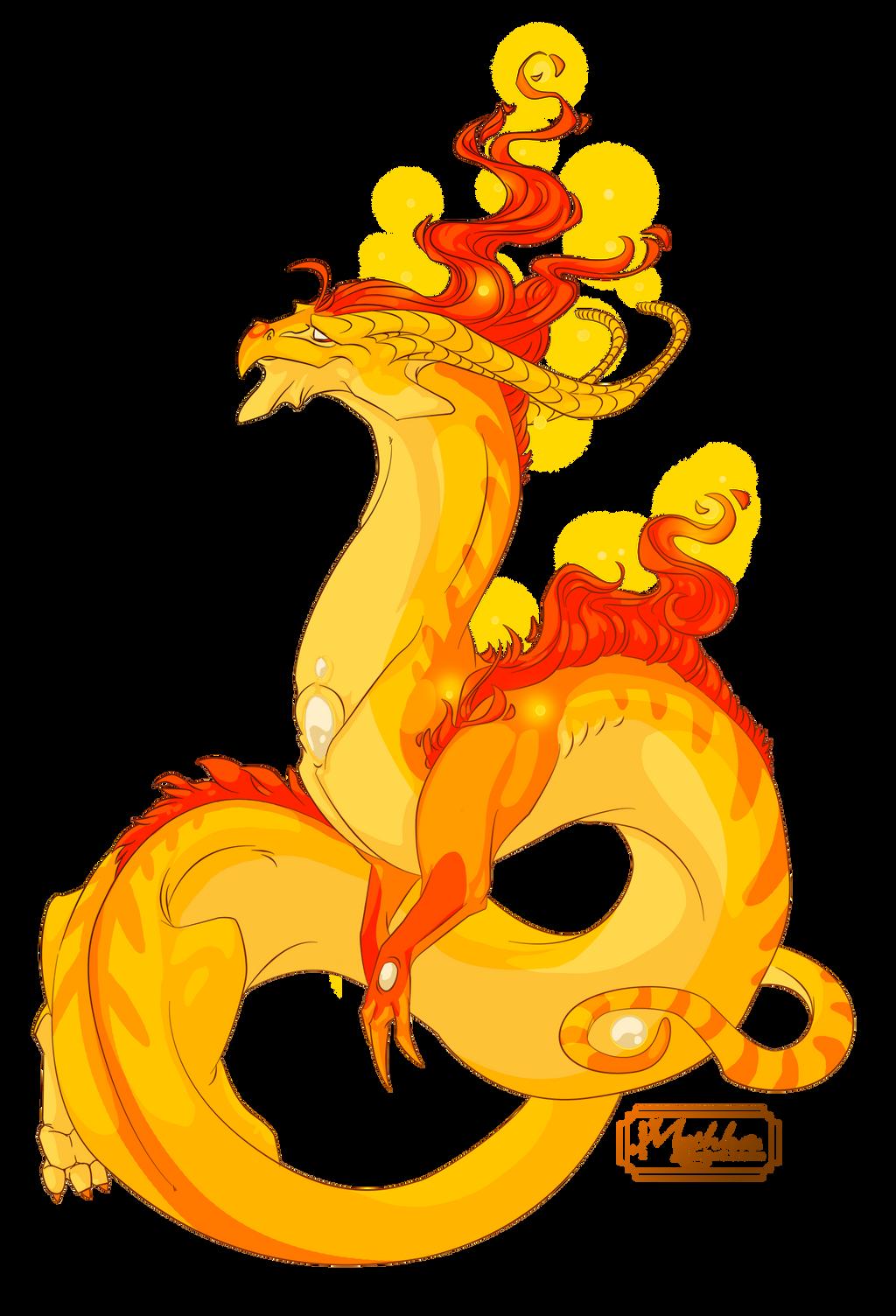Dragon #36 -Commission- by Mythka