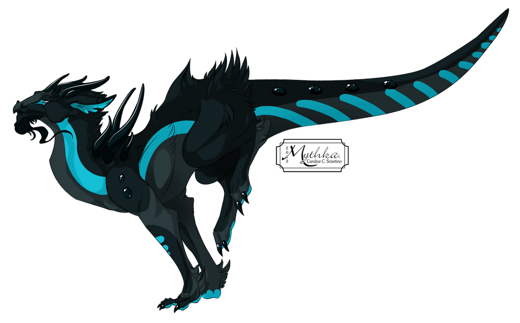 Dragon #37 -Gemstone Dragon Melanite Reference- by Mythka