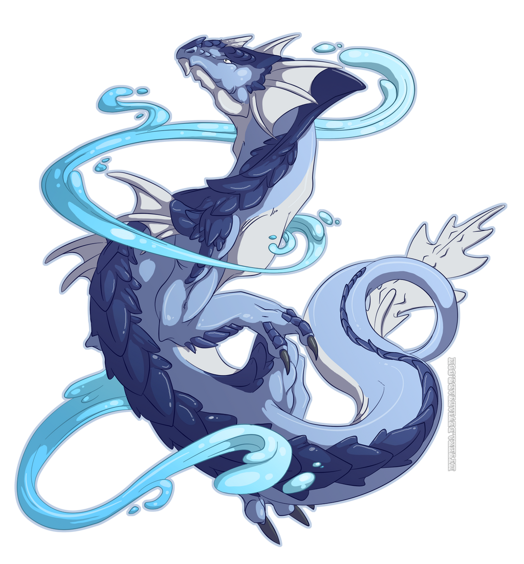 Water Dragon -Commission- by Mythka