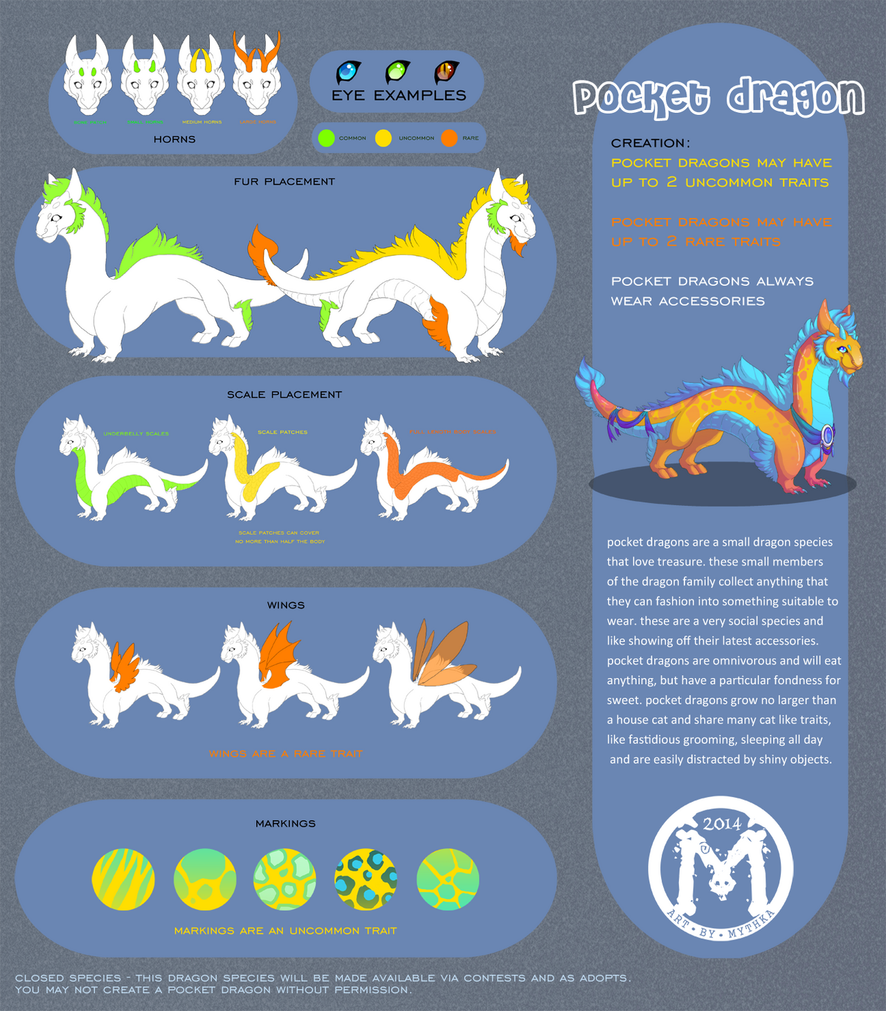 Pocket Dragon Reference Sheet by Mythka