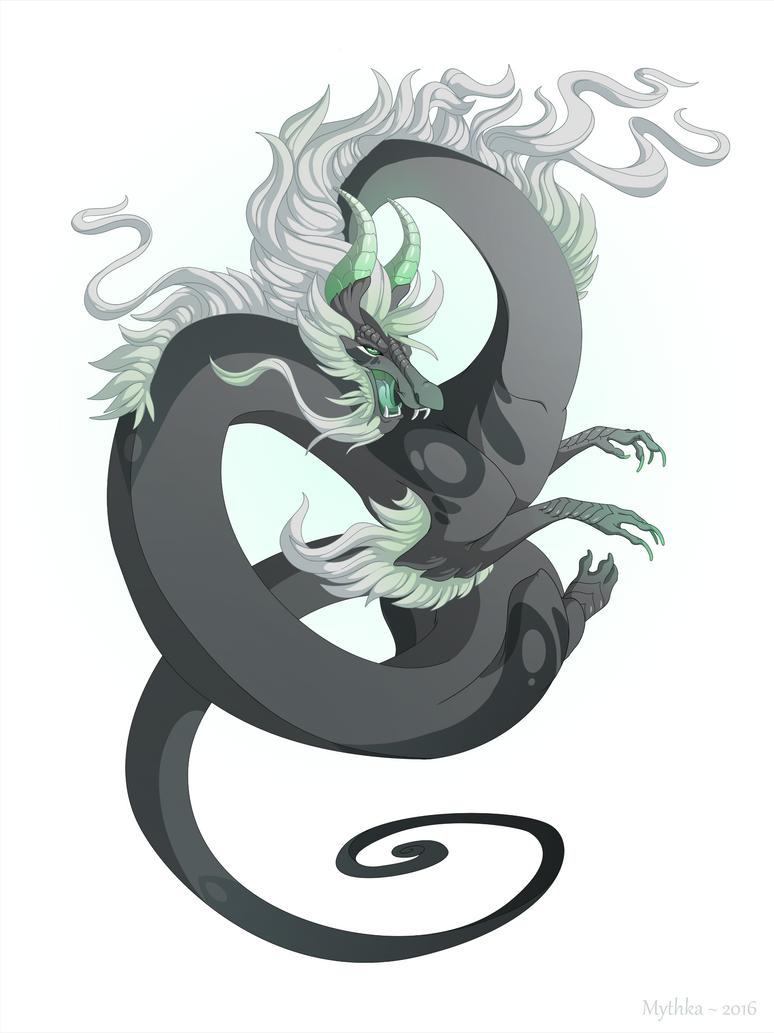Dragon-A-Day 141 (Hurricane) by Mythka