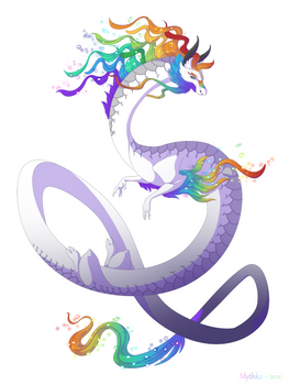 Dragon-A-Day 144 (Rainbow)