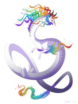 Dragon-A-Day 144 (Rainbow)