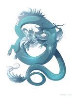 Dragon-A-Day 147 (Tsunami) by Mythka