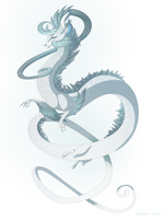 Dragon-A-Day 149 (Water Spout) by Mythka