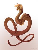 Dragon-A-Day 154 (Dust Devil) by Mythka
