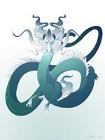 Dragon-A-Day 155 (Storm Surge) by Mythka