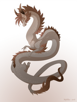 Dragon-A-Day 156 (Flood) by Mythka