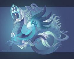 Dragon-A-Day 174 .Poseidon. by Mythka