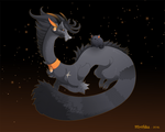 Dragon-A-Day 203 .Black Cat.