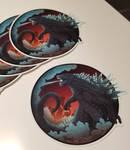 Godzilla Sticker1Etsy by Mythka