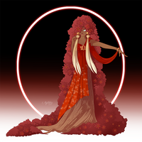 Poinsettia Dryad - DEC 19 by Mythka