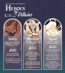 February Heroes and Villains (CLOSED)