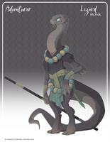 054 - (Adventurer) Lizard Monk by Mythka