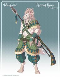 105 - (Adventurer) - Striped Hyena Fighter by Mythka