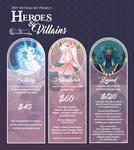 Heroes and Villains Batch 8 (CLOSED) by Mythka