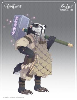 143 - (Adventurer) Badger Runesmith