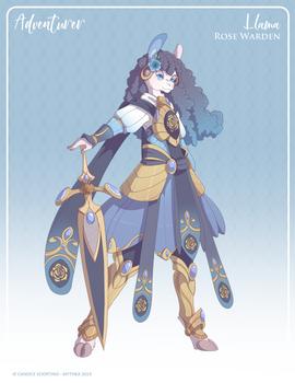 153 - (Adventurer) Llama Rose Warden