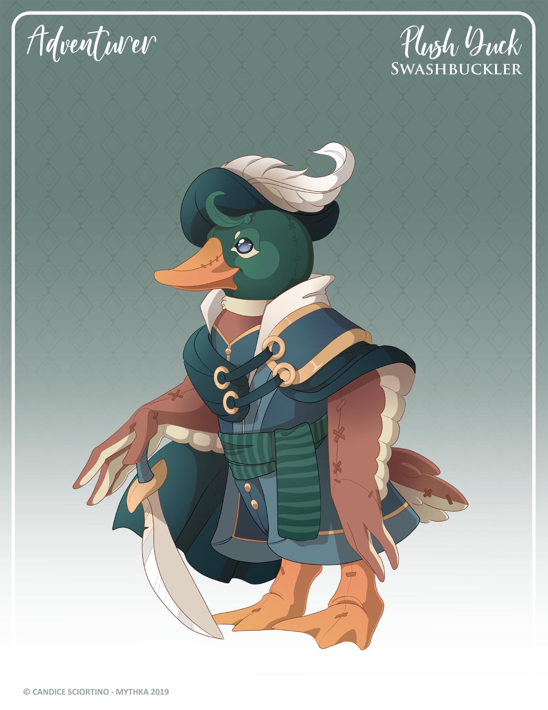 160 - (Adventurer) Plush Duck Swashbuckler