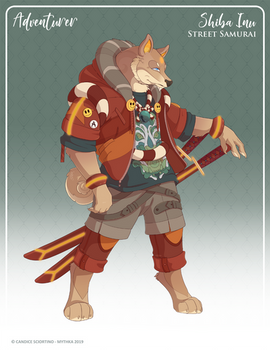 161 - (Adventurer) Shiba Inu Street Samurai