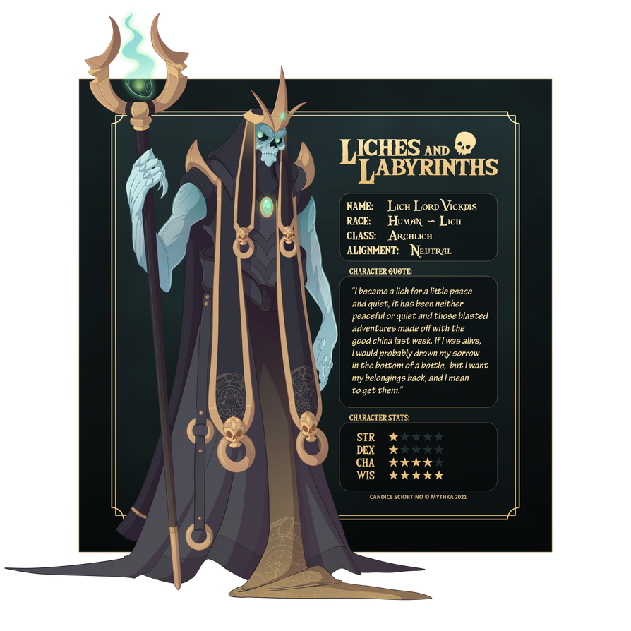 Lich Lord Vickdis ~ Liches and Labyrinths