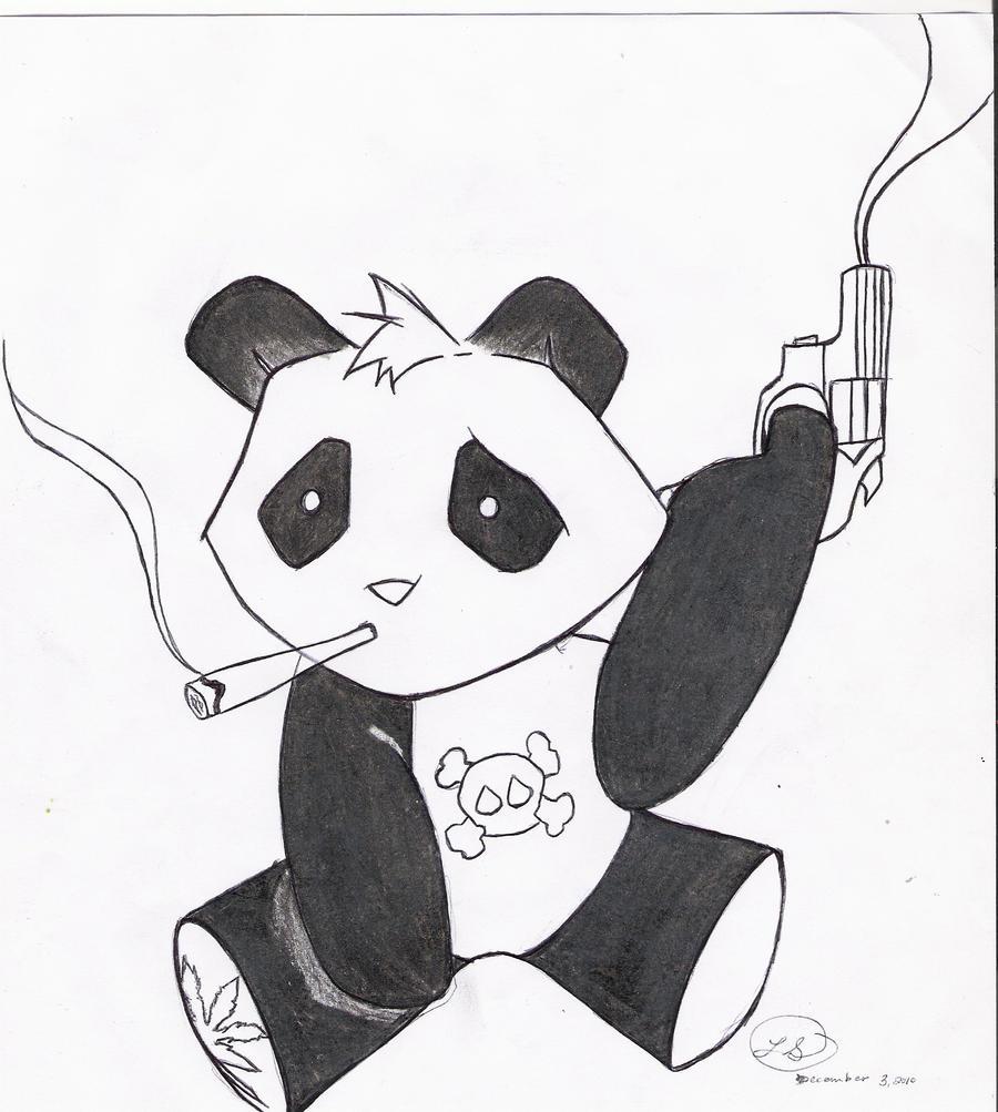 Gangsta Panda By Scarletoct1209