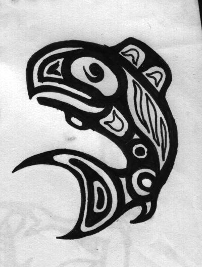 haida whale by margotMEANIE