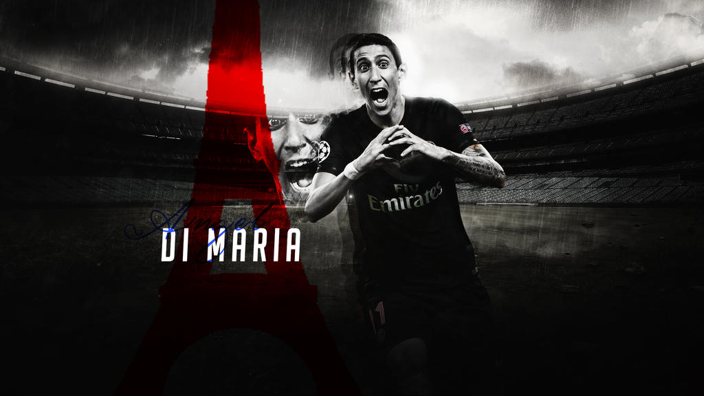D I Maria 2015 16 PSG Wallpaper HD By RHGFX2