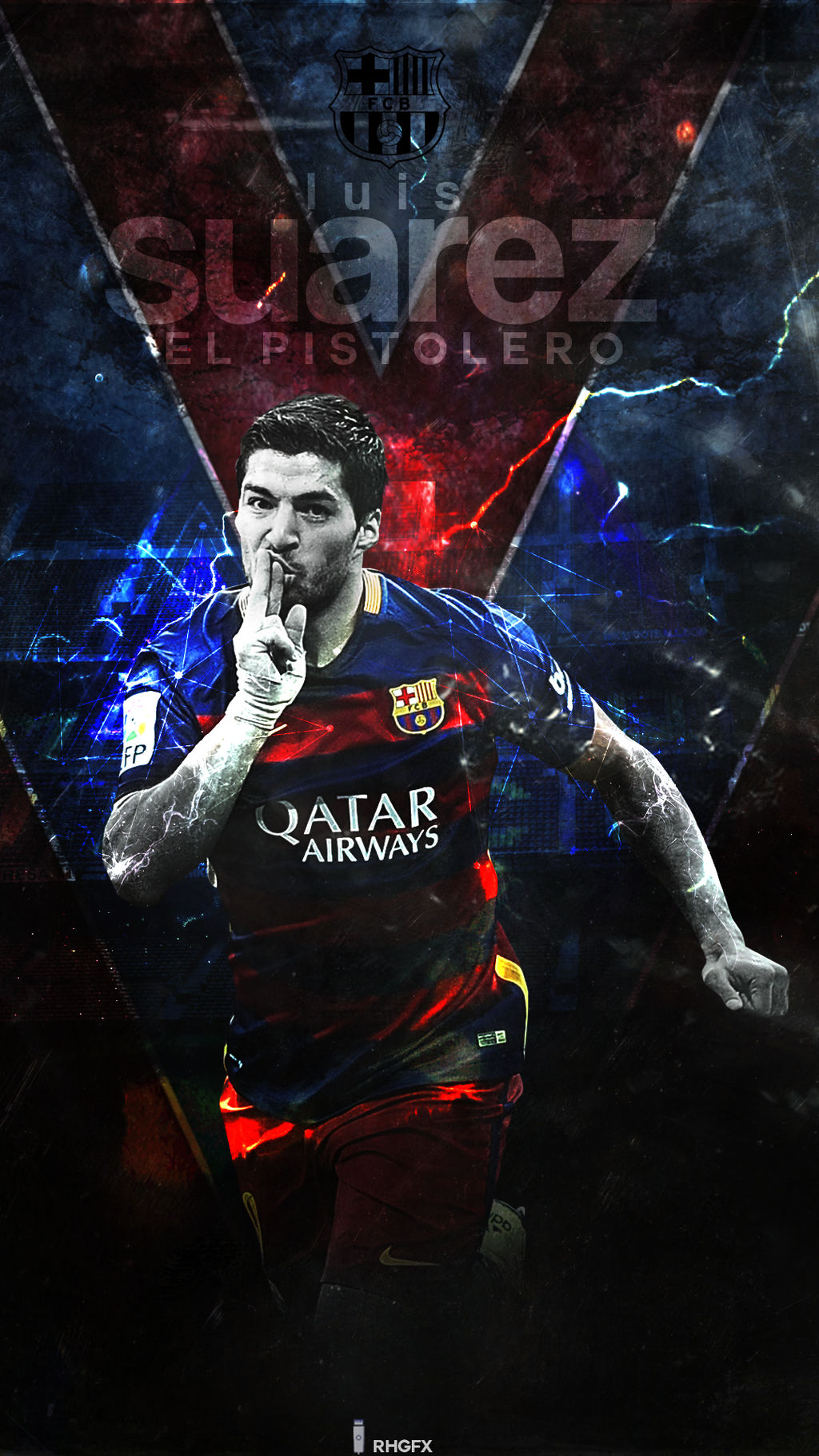 Luis Suarez FC Barcelona 2016 Wallpaper By RHGFX2 On DeviantArt