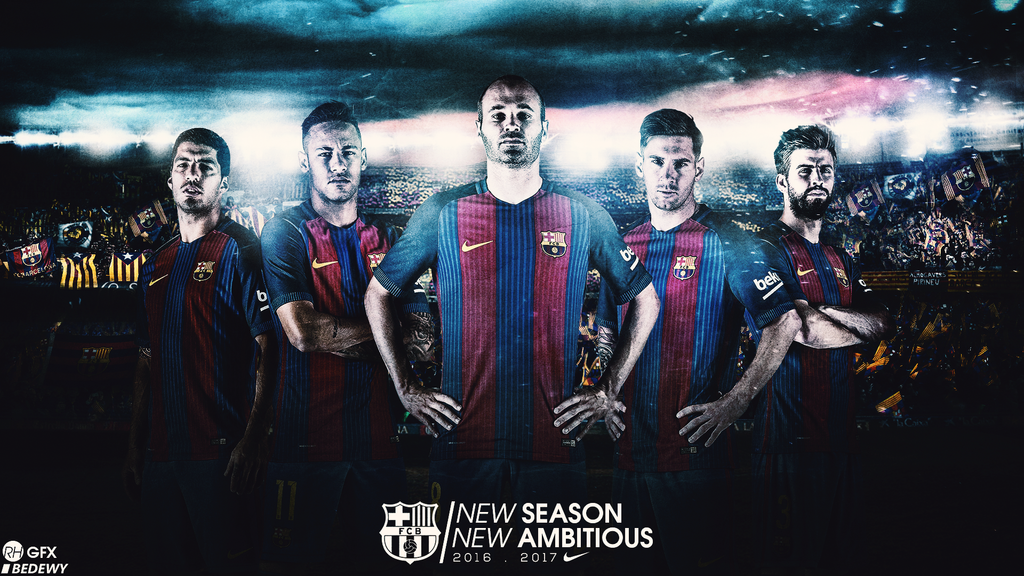 FC Barcelona Wallpaper Ft Omar By RHGFX2