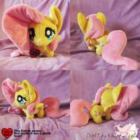 [SOLD] Fluttershy Chibi pony by NakedSkull