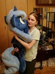 Lying Luna filly and me :3