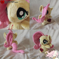 [for SALE] Antro-chibi Fluttershy by NakedSkull