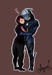 Garrus and Shepard