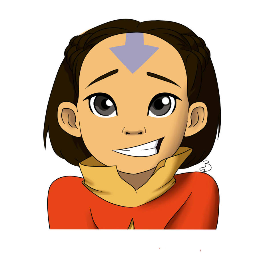 Avatar Aang With Hair