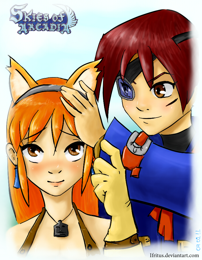 Vyse and Aika by Ifritus
