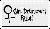 Girl Drummers Rule Stamp by drumgirl