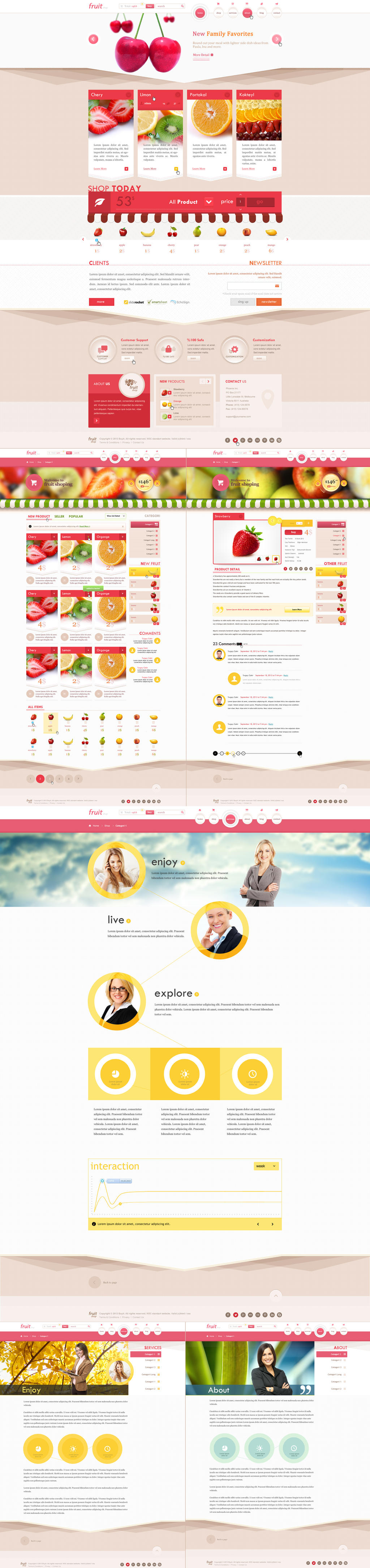 Fruit Shop (psd template)