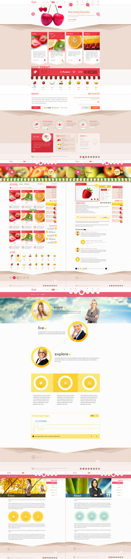 Fruit Shop (psd template) by trcakir