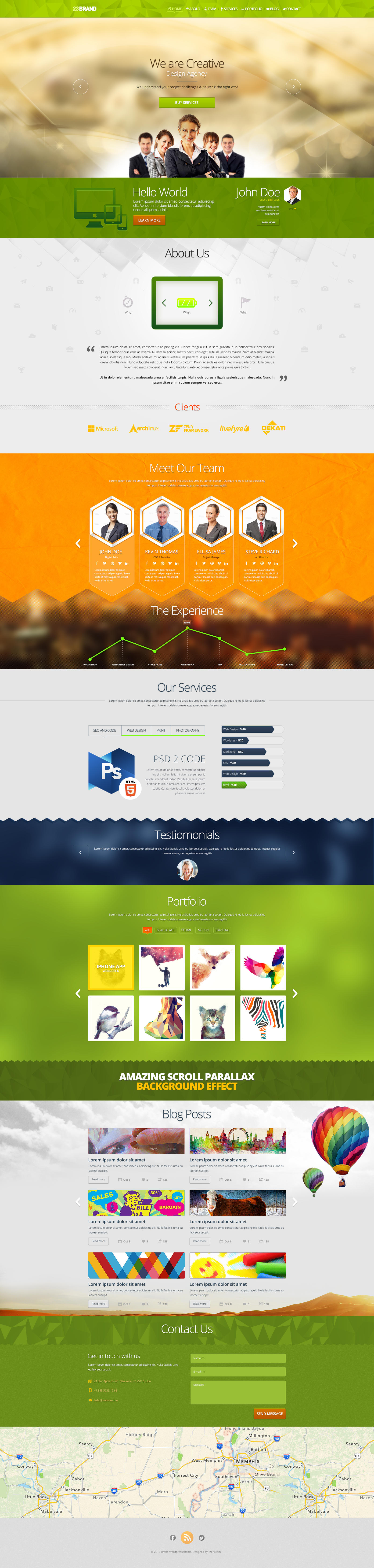Single Page PSD by trcakir
