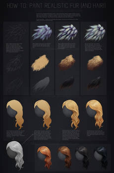 Tutorial: How to paint realistic hair and fur