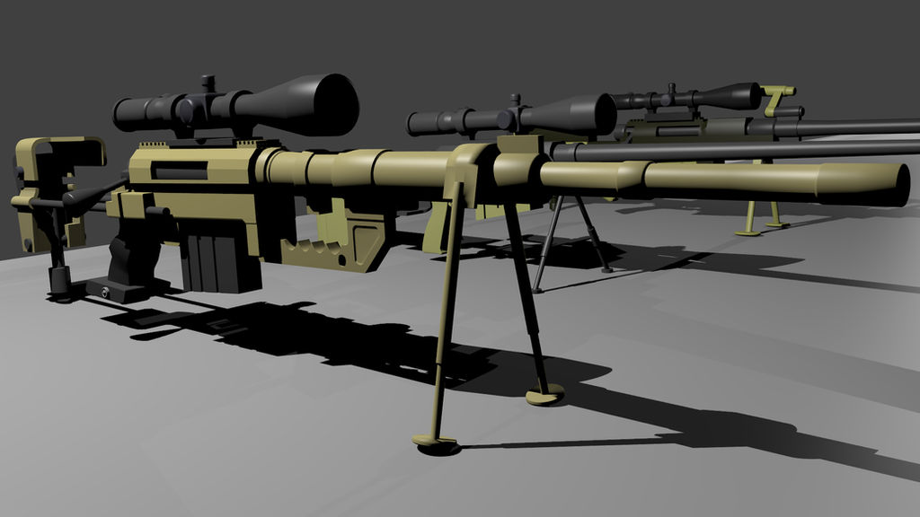 Intervention sniper rifle png
