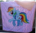 MLP Rainbow Dash Quilt
