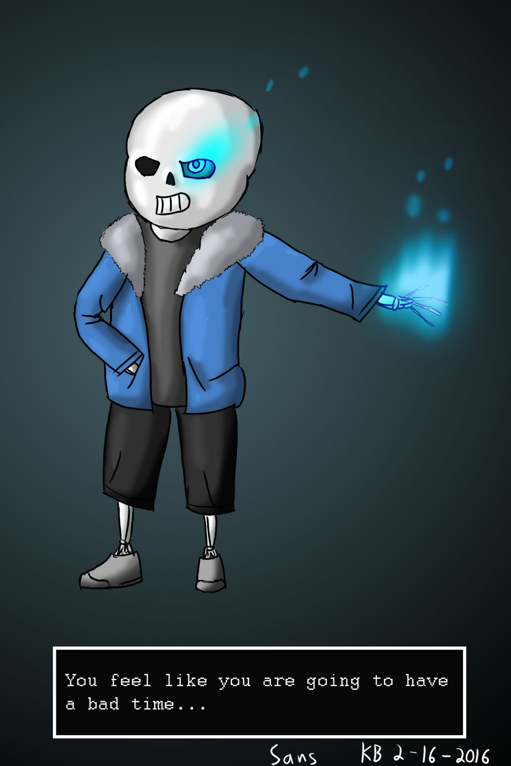 You're gonna have a bad time    (Sans Speedart) by
