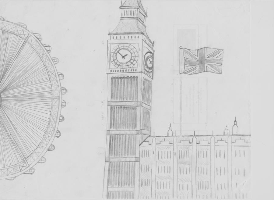 London Clock Tower Drawing london s big ben clock towerLondon Clock Tower Drawing