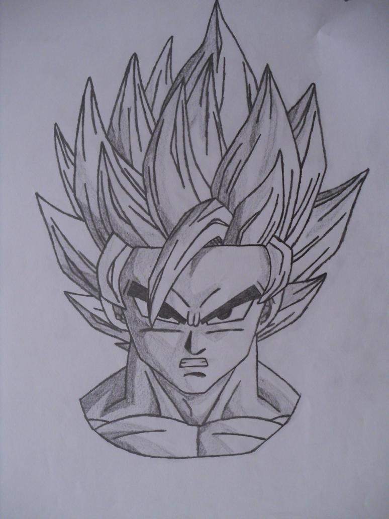 How to draw dbz goku ssj2